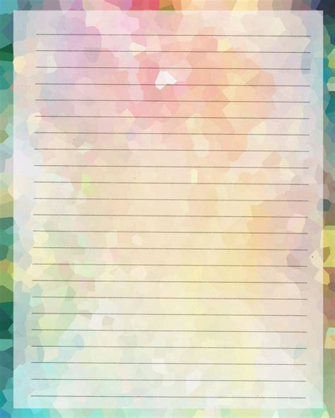 rainbow writing paper printable journal page instant rainbow digital