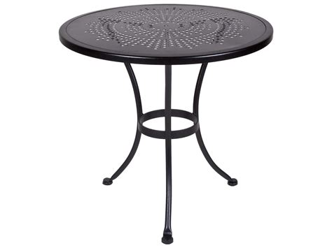 round wrought iron patio ow lee bistro wrought iron sted 30 round with