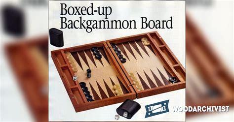 backgammon board woodworking plans 2071 backgammon board plans woodarchivist