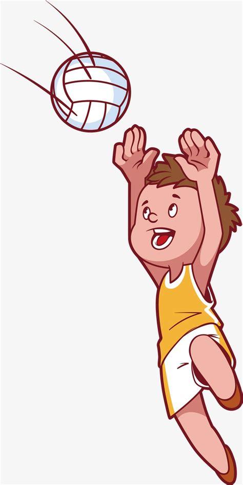 dibujos de niños jugando voleibol ولد صغير يلعب كرة الطائرة ناقلات شخصيات كرتونية كرتون