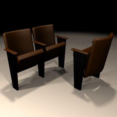 Auditorium Chair 3d Model Free by 3d Auditorium Chair