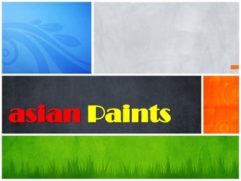 asian paints ppt