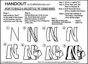 building letters with bars lesson letter s graffiti