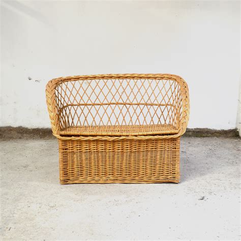 rattan bench sale vintage children s wicker bench for sale at pamono