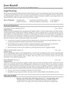 Resume Sample Law by Example Legal Secretary Resume Free Sample