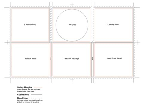cd spine template cd digi 6 panel template tray center 2 spine