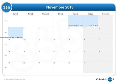 Calendario Novembre Calendario Novembre 2013