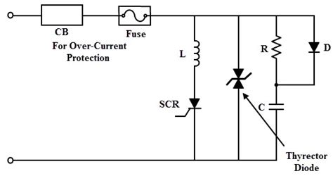 avalanche diode overvoltage scr protection