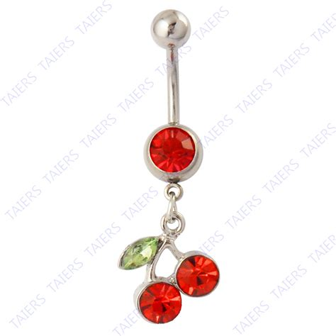 fruit cherries belly button rings fashion piercing