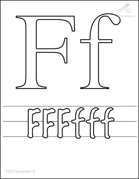 Coloring Page Letter F Letter F Coloring Pages