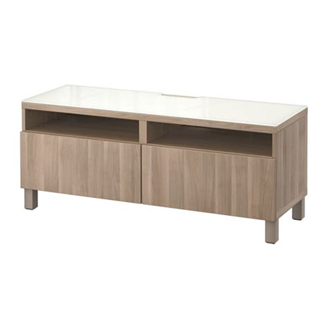 besta tv bench with drawers best 197 tv unit with drawers lappviken walnut effect light