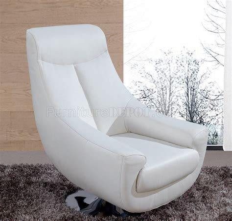 Lori Swivel Chair In White Leather By Whiteline Imports White Leather Swivel Chair