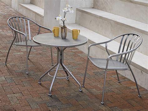 round wrought iron table woodard wrought iron 30 round bistro table 280134