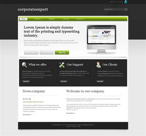 elitebusiness css template corporate css templates