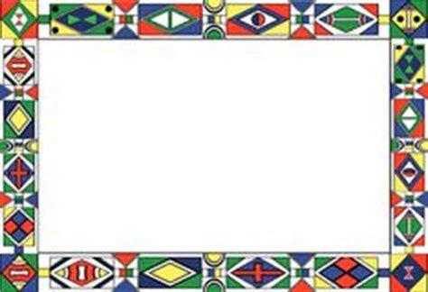 african pattern frame ndebele african border pattern art stock vector