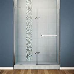 cheap pivot shower doors clear and brushed nickel frameless neo angle enclosure
