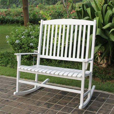 white outdoor rocking chair mainstays outdoor rocking chair white solid