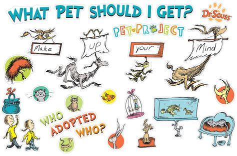 what should i get dr seuss what pet should i get mini bulletin board set eureka school