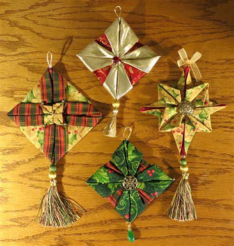Folded Paper Ornament Pattern - folded fabric ornaments patterns