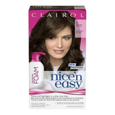 mousse hair color clairol n easy color blend foam review canadian