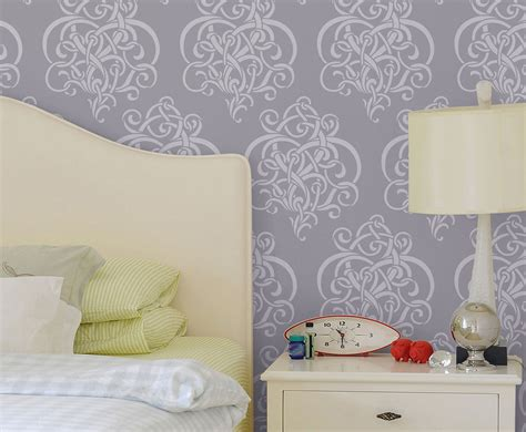 large wall stencils items similar to twist of vines large reusable wall