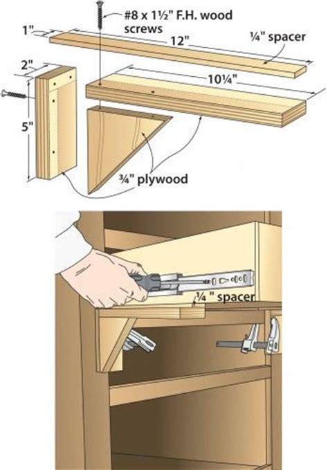 diy wooden drawer slides take the guesswork out of mounting drawer slides diy homer