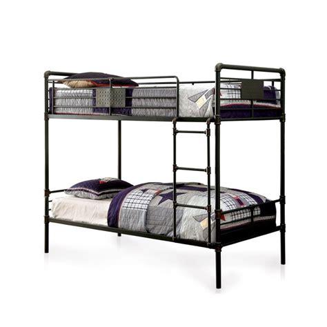 queen over queen bunk beds furniture of america bryon queen over queen bunk bed in