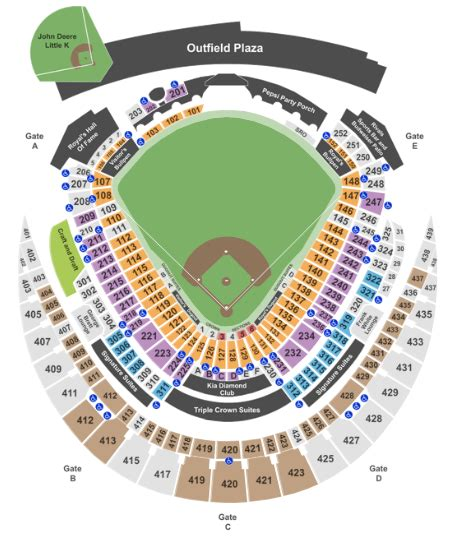 kauffman stadium    fees  ticket club