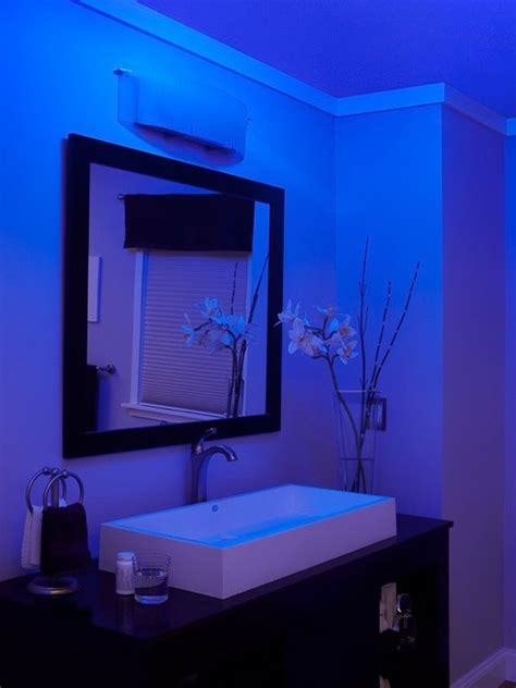 blue bathroom lights nutone lunaura blue glow bathroom exhaust fan ceiling