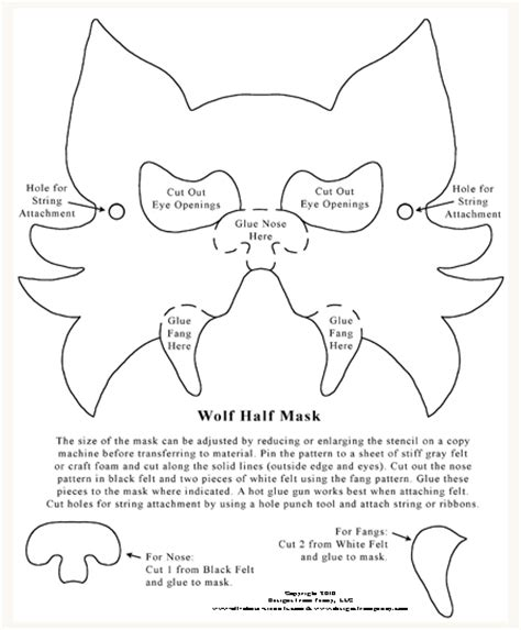 printable werewolf mask 6 best images of printable halloween mask patterns