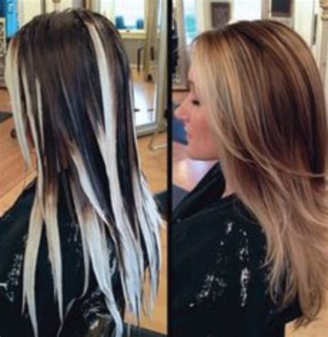 where to place foils for ombre balayage vs foil highlighting loli hair studio