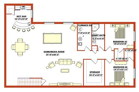 basement floor plans high quality finished basement plans 5 finished walk out basement floor plans to build a home