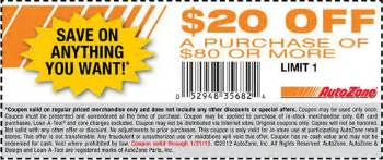 Car Cover Zone Discount Code Free Printable Autozone Coupon November 2016