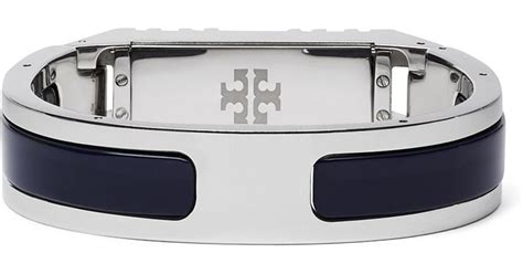 Tory Burch For Fitbit Resin Inlay Hinged Bracelet In Metallic Lyst   Palm Springs Golf Courseguide