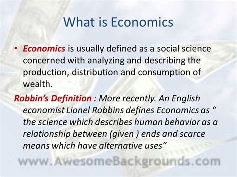 consumption pattern definition english meaning scope methods of managerial economics ppt