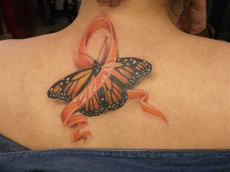 ms ribbon tattoo leukemia on