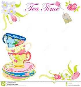 tea time party invitation royalty free stock image