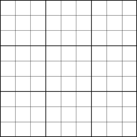 blank sudoku grid sudoku template blank sudoku grid template 600 600
