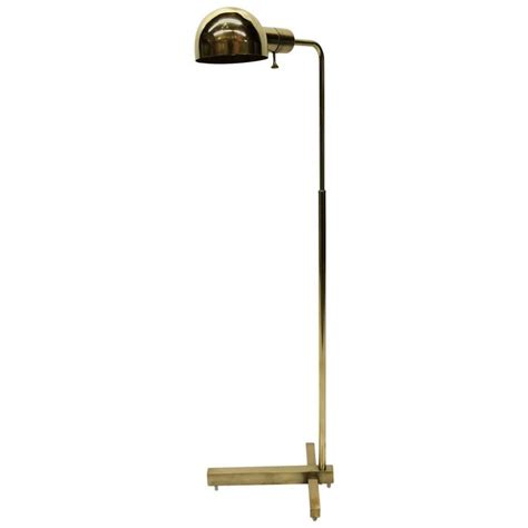 Pharmacy Floor L With Glass Shade by Pharmacy Brass Floor L By Casella At 1stdibs