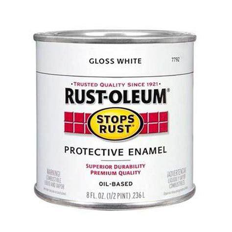 gloss paint rust oleum stops rust 8 oz gloss white protective enamel