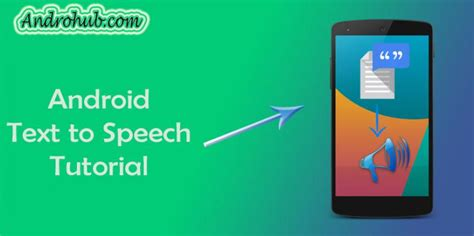 android text to speech intent archives androhubandrohub