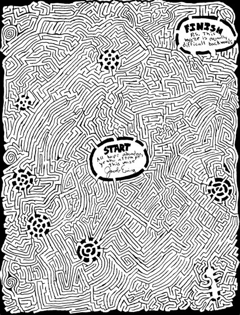 printable hidden picture mazes complicated coloring pages for adults printable mazes