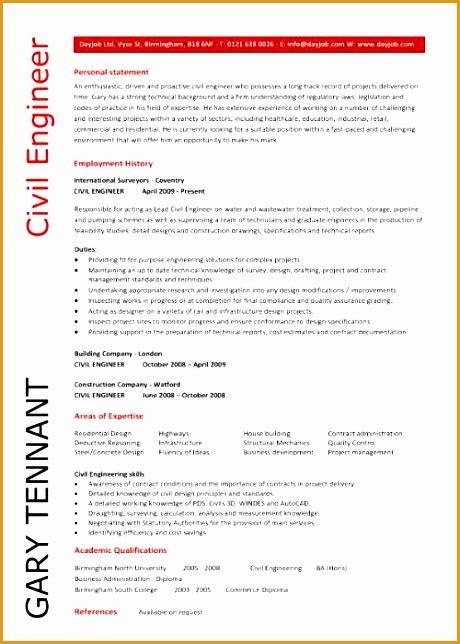 Civil Engineering 6 6 civil engineering cv resume template free sles civil