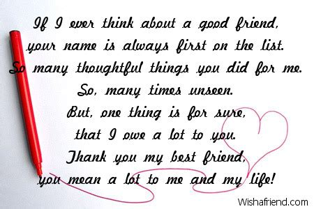thank you letter exles for a friend thank you notes for friends
