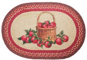 apple basket braided rug country decor primitive rug ebay