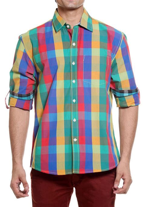 colored shirts tog bright multi color casual cotton shirt tmss113a