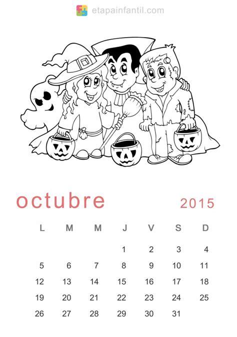 imagenes calendario octubre 2015 calendarios octubre 2015 para descargar imprimir y pintar