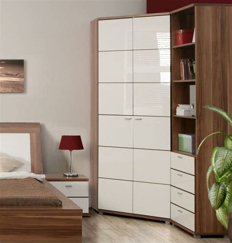 White Corner Unit Bedroom Furniture Impressive Corner Wardrobe Design For More Saving Space Interior Fans