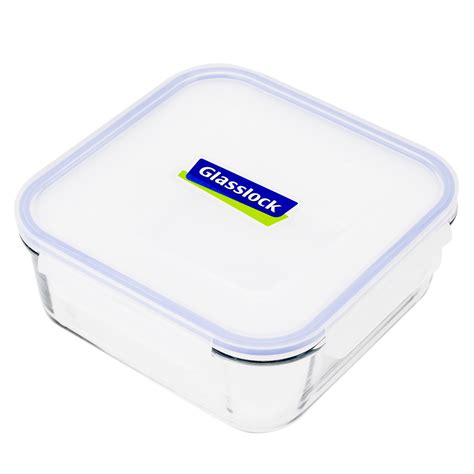 tempered glass food storage containers glasslock tempered glass square food container 2 6l