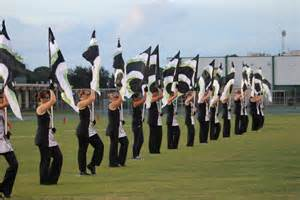 color guard in color guard gulf high school buccaneer band